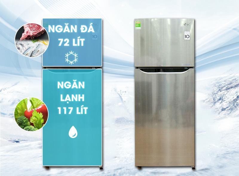 Tủ lạnh LG GN-L205PS có thiết kế sang trọng