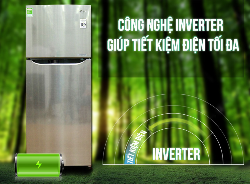Công nghệ Smart Inverter của tủ lạnh LG GN-L205PS sử dụng máy nén Inverter