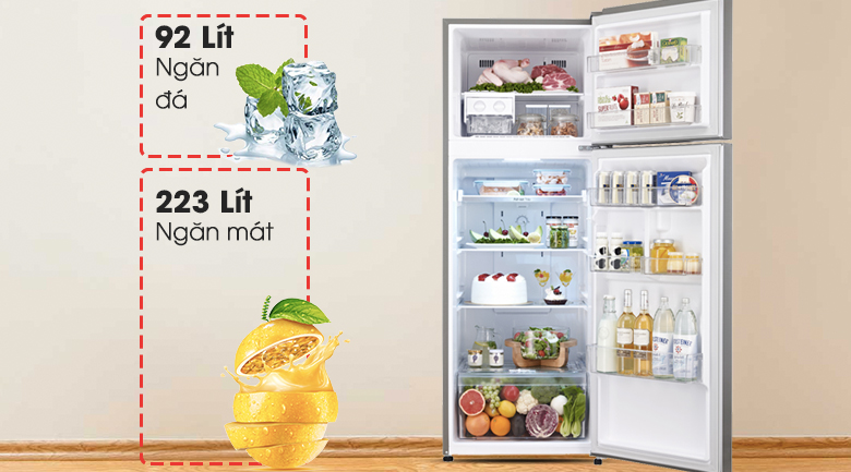 Dung tích lớn 315 lít - Tủ lạnh LG Inverter 315 lít GR-L333BS