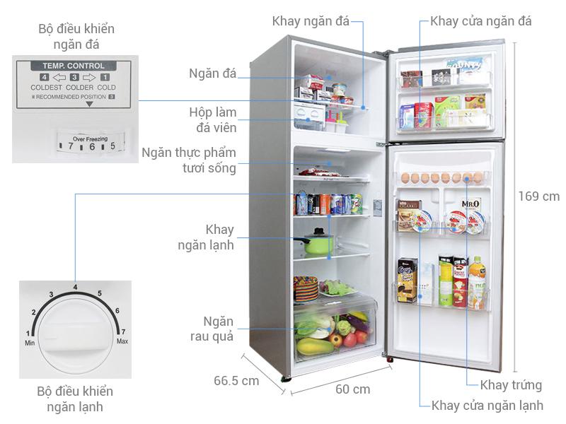 Thông số kỹ thuật Tủ lạnh LG 315 lít GR-L333PS