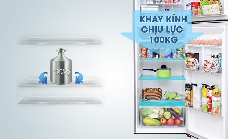 Ngăn rau củ của tủ lạnh LG GR-L333PS có khả năng cân bằng độ ẩm với kích thước lớn