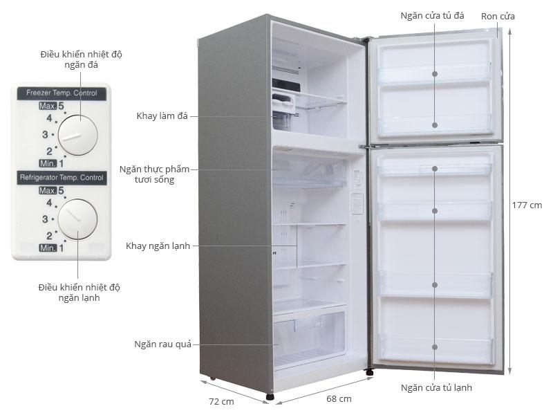 Thông số kỹ thuật Tủ lạnh Hitachi R-V470PGV3 395 lít