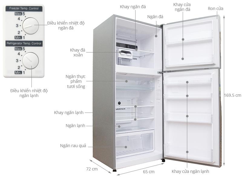 Thông số kỹ thuật Tủ lạnh Hitachi 365 lít R-V440PGV3-INX
