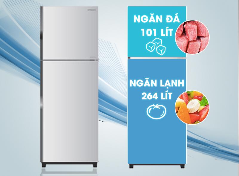 Cùng với thiết kế độc đáo, tủ lạnh Hitachi R-V440PGV3-INX đem lại sự tinh tế cho các căn phòng bếp