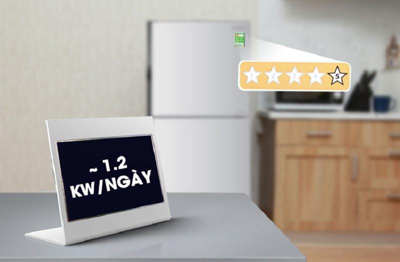 Nhờ vậy, mỗi ngày tủ lạnh này chỉ tiêu hao 1.2 kW điện năng