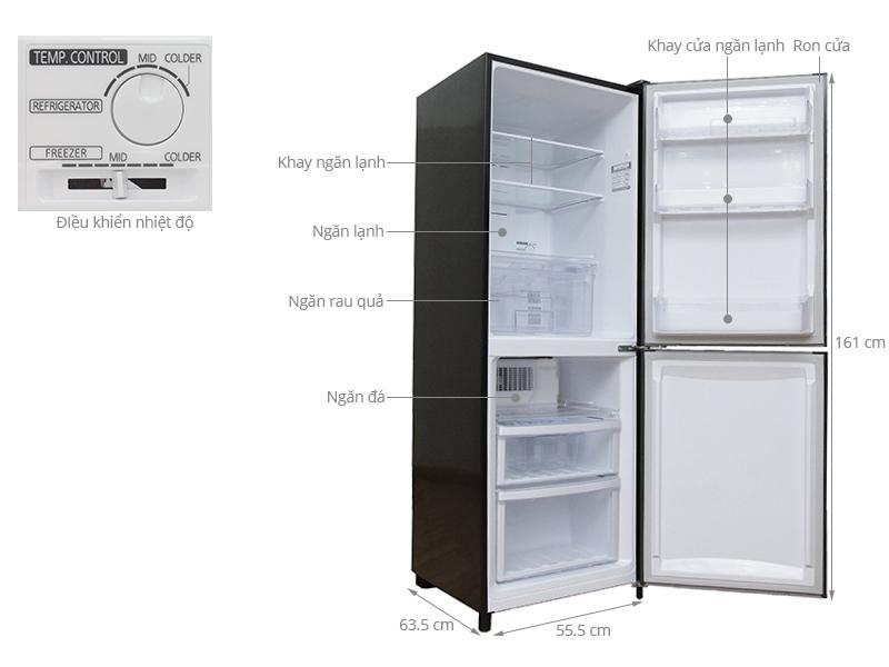 Thông số kỹ thuật Tủ lạnh Mitsubishi Electric 256 lít MR-HD32G-SL