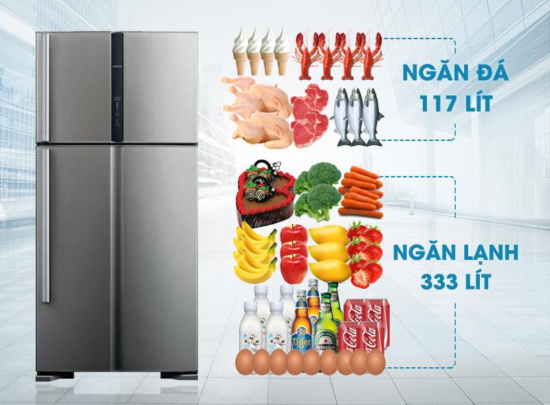 Tủ lạnh Hitachi R-V540PGV3 có thiết kế sang trọng