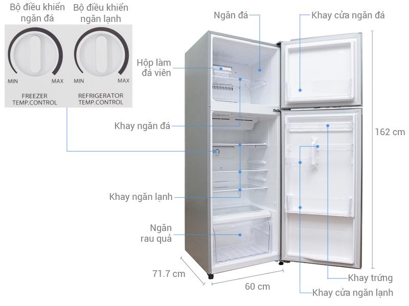 Thông số kỹ thuật Tủ lạnh Toshiba 305 lít GR-T36VUBZ(DS)