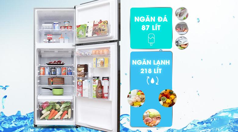 Tủ lạnh Toshiba Inverter 305 lít GR-T36VUBZ - Dung tích