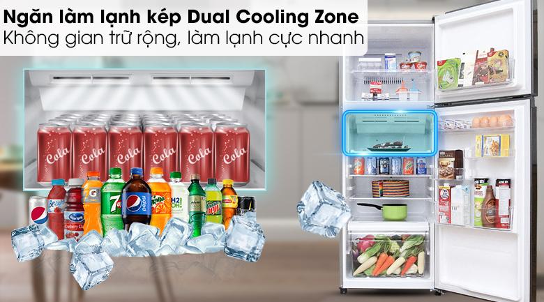 Ngăn làm lạnh kép Dual Cooling Zone - Tủ lạnh Toshiba Inverter 305 lít GR-T36VUBZ