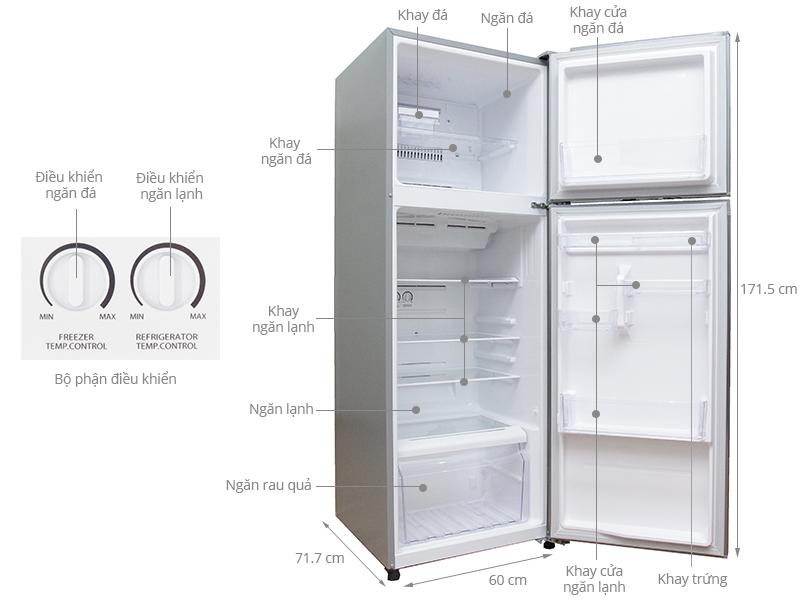 Thông số kỹ thuật Tủ lạnh Toshiba 330 lít GR-T39VUBZ(DS)