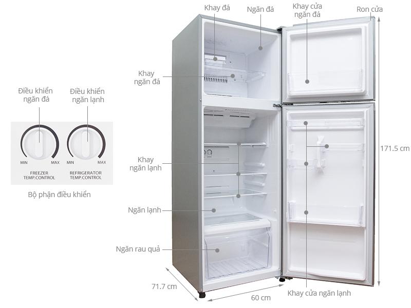 Thông số kỹ thuật Tủ lạnh Toshiba 330 lít GR-T39VUBZ(FS)