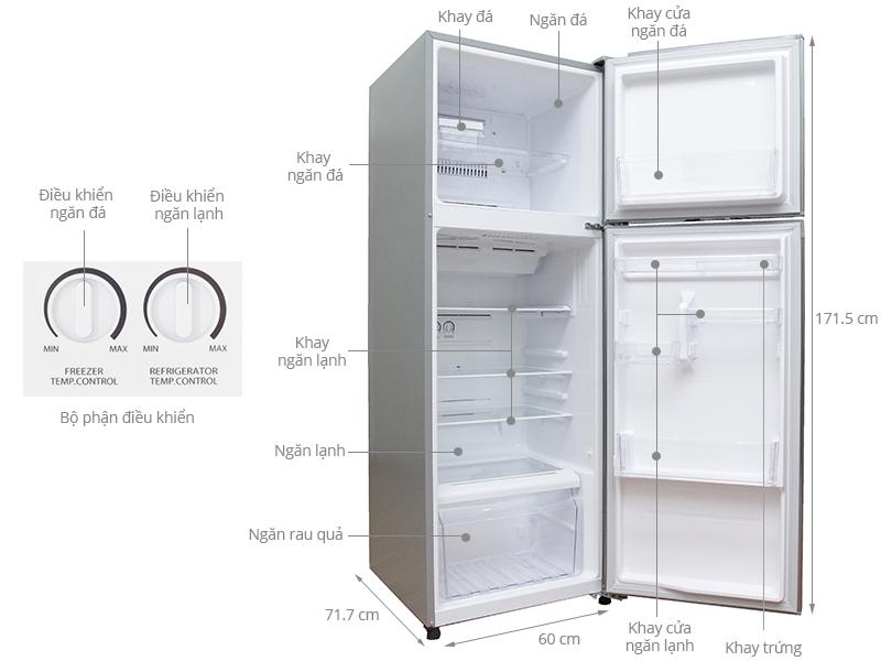 Thông số kỹ thuật Tủ lạnh Toshiba Inverter 330 lít GR-T39VUBZ(N)