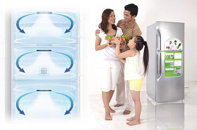 Hơi lạnh xuyên suốt mọi ngóc ngách của tủ lạnh