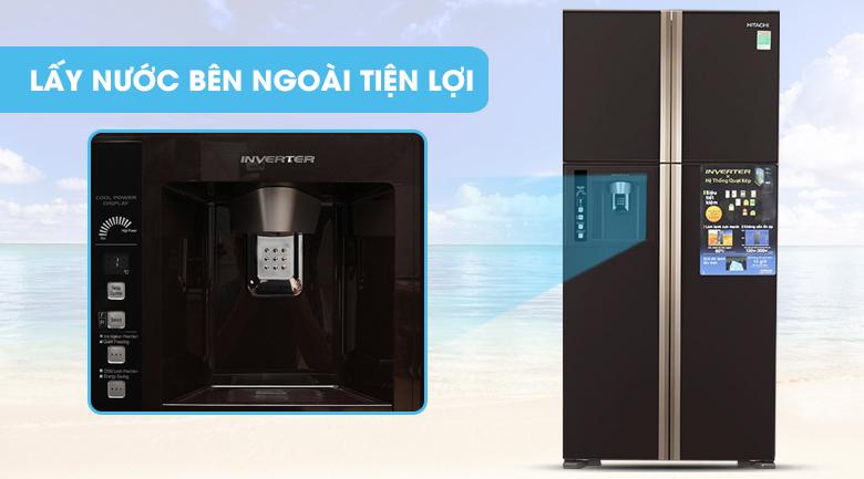 Ngăn lấy nước bên ngoài tiện lợi - Tủ lạnh Hitachi Inverter 540 lít R-W660FPGV3X GBW