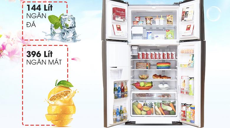 Dung tích 540 lít - Tủ lạnh Hitachi Inverter 540 lít R-W660FPGV3X GBW
