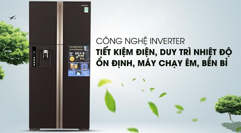 Công nghệ Inverter vận hành êm ái - Tủ lạnh Hitachi Inverter 540 lít R-W660FPGV3X GBW