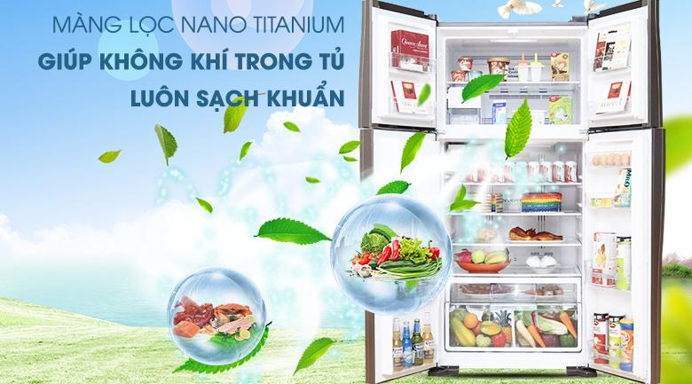 Màng lọc Nano Titanium kháng khuẩn khử mùi - Tủ lạnh Hitachi Inverter 540 lít R-W660FPGV3X GBW