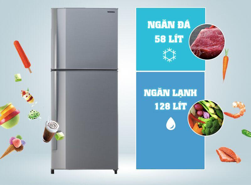 Tủ lạnh Toshiba GR- S21VPB (DS) có gam màu xám bạc nhẹ nhàng, đem lại sự tinh tế
