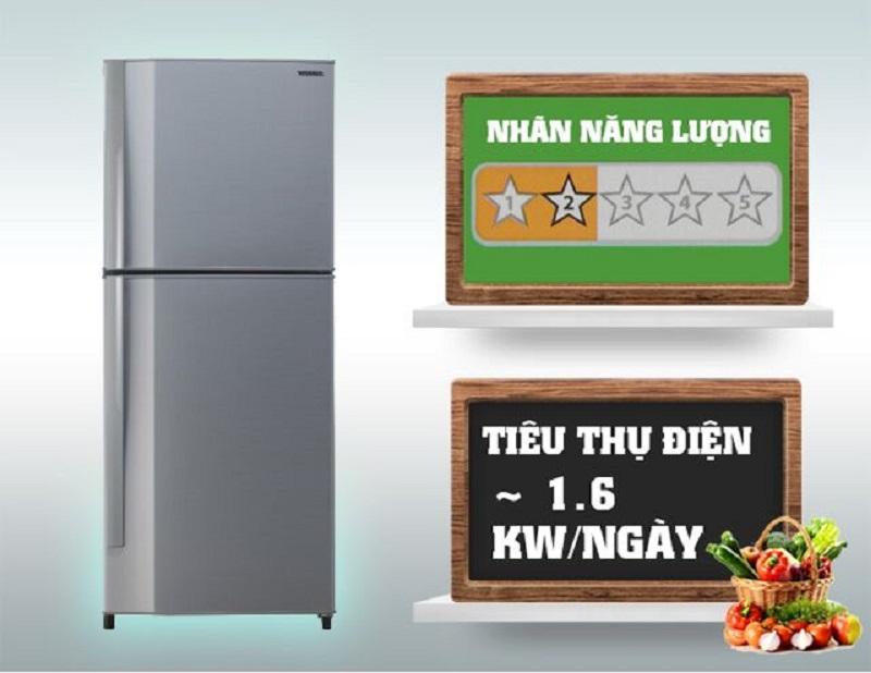 Tủ lạnh Toshiba GR- S21VPB (DS) chỉ tiêu tốn 1.6 kW điện năng cho một ngày làm việc