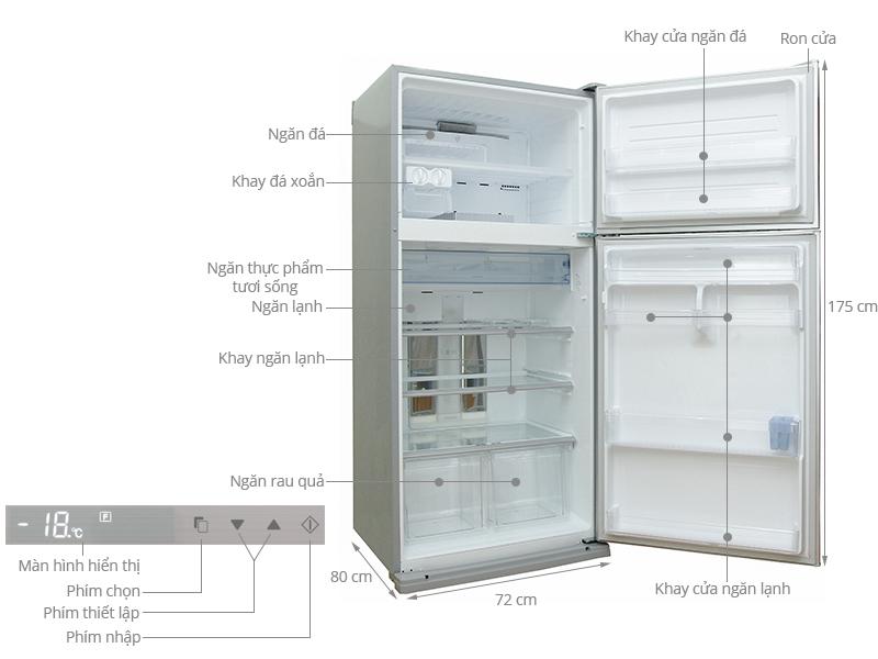 Thông số kỹ thuật Tủ lạnh Sharp SJ-P585G (SL) 585 lít