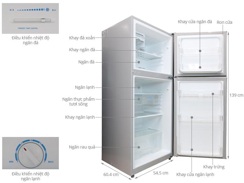 Thông số kỹ thuật Tủ lạnh Midea HD-247FW(N) 190 lít