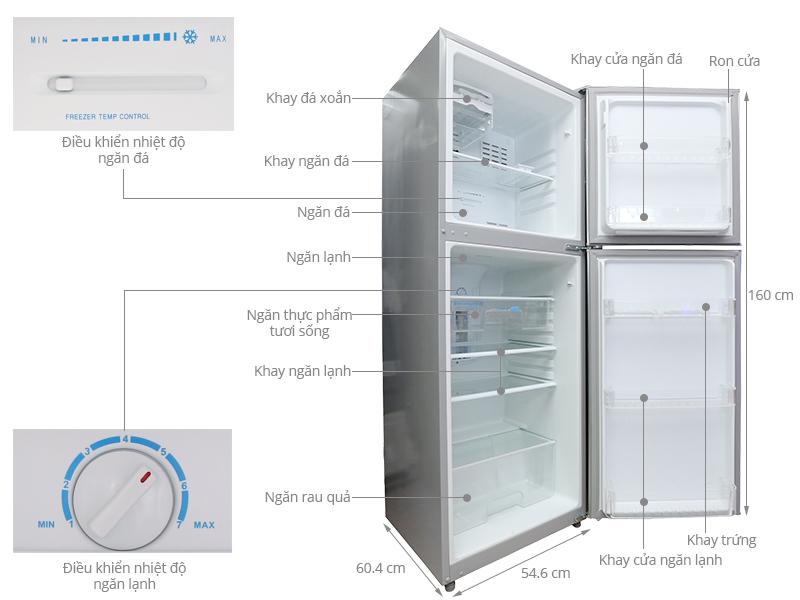 Thông số kỹ thuật Tủ lạnh Midea 228 lít HD-296FW(N)