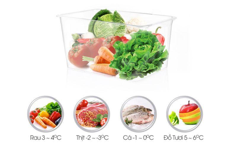 Ngăn điều chỉnh nhiệt độ mát thông minh giúp bạn trữ thịt cá ngon hơn