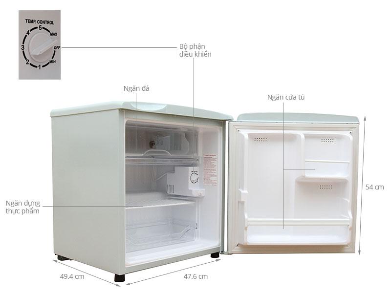 Thông số kỹ thuật Tủ lạnh Aqua 50 lít AQR-55AR