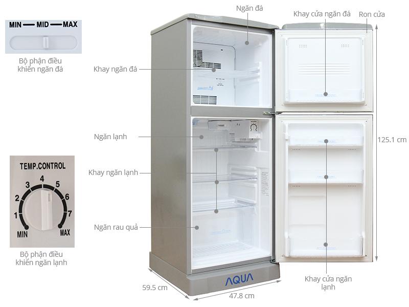 Thông số kỹ thuật Tủ lạnh Aqua 130 lít AQR-145AN