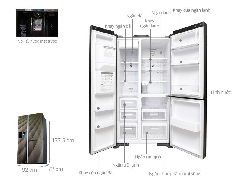 Thông số kỹ thuật Tủ lạnh Hitachi Inverter 584 lít R-M700AGPGV4X DIA