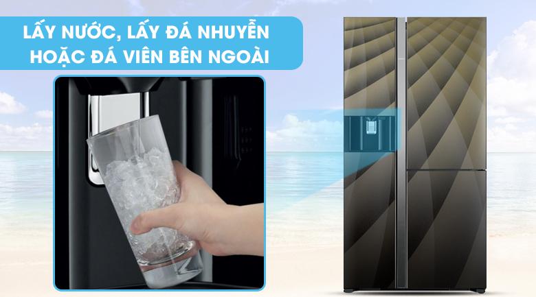 Trang bị ngăn lấy nước bên ngoài tiện lợi - Tủ lạnh Hitachi Inverter 584 lít R-M700AGPGV4X DIA