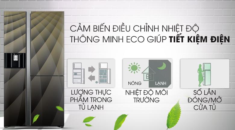 Tích hợp cảm biến thông minh Eco - Tủ lạnh Hitachi Inverter 584 lít R-M700AGPGV4X DIA