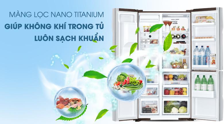 Bảo vệ sức khỏe với công nghệ Nano Titanium - Tủ lạnh Hitachi Inverter 584 lít R-M700AGPGV4X DIA