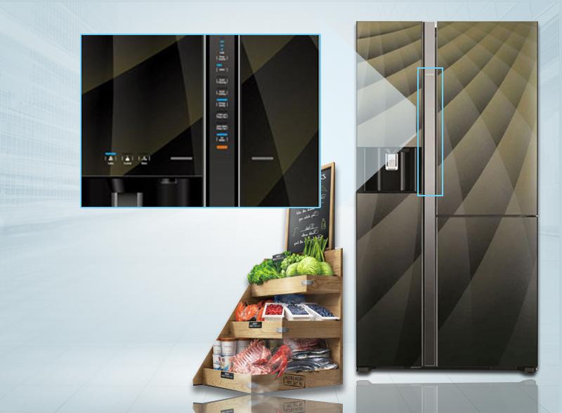 Cùng với đó, bảng điều khiển cảm ứng sẽ giúp bạn nhanh chóng tùy chỉnh nhiệt độ của tủ lạnh hơn
