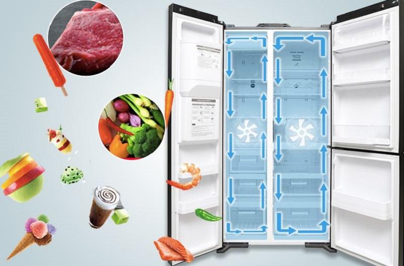 Với hệ thống làm lạnh sử dụng quạt kép độc lập riêng cho từng ngăn, tủ lạnh Hitachi R-M700AGPGV4X DIA có khả năng làm lạnh nhanh và mạnh mẽ