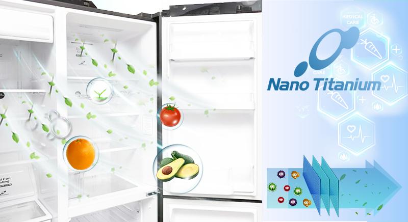 Tủ lạnh Hitachi R-M700AGPGV4X DIA có công nghệ Nano Titanium với khả năng kháng khuẩn