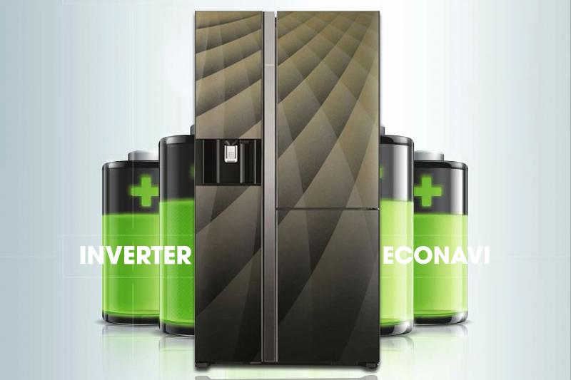 Với công nghệ Inverter tiết kiệm điện, tủ lạnh Hitachi R-M700AGPGV4X DIA sẽ giảm đi sự lãng phí điện năng vẫn thường diễn ra