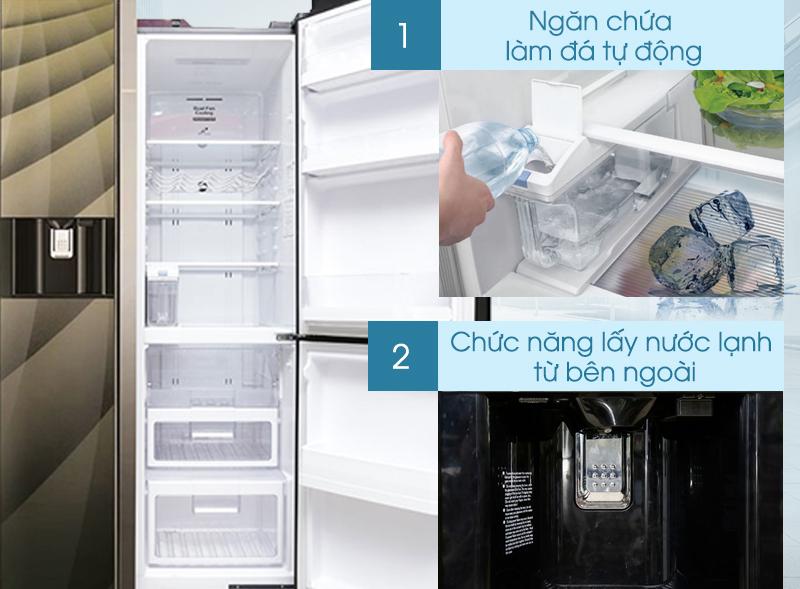 Tủ lạnh Hitachi R-M700AGPGV4X DIA có khả năng làm đá tự động