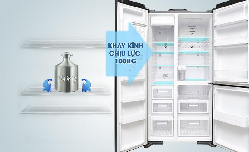 Khay thủy tinh với khả năng chịu lực cao sẽ giúp bạn sắp xếp thực phẩm nhanh chóng và tiện lợi hơn