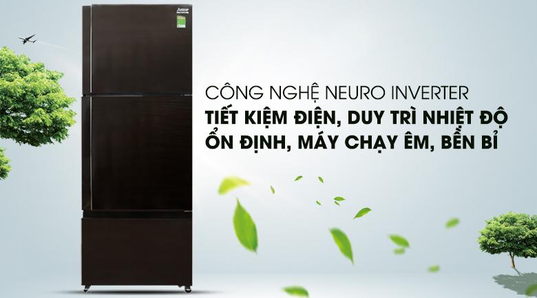 Công nghệ Neuro Inverter - Tủ lạnh Mitsubishi Electric Inverter 414 lít MR-V50EH-BRW