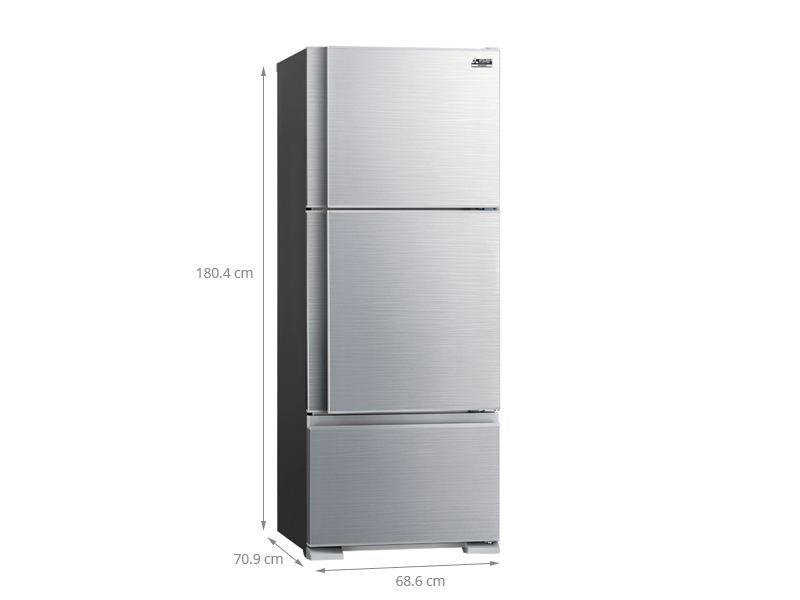 Thông số kỹ thuật Tủ lạnh Mitsubishi Electric 414 lít MR-V50EH-SLW