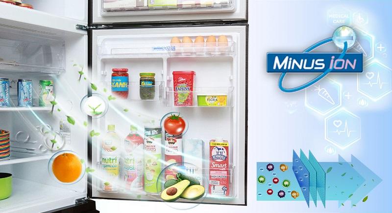 Tủ lạnh Mitsubishi Electric MR-V50EH-SLW có công nghệ Minus Ion