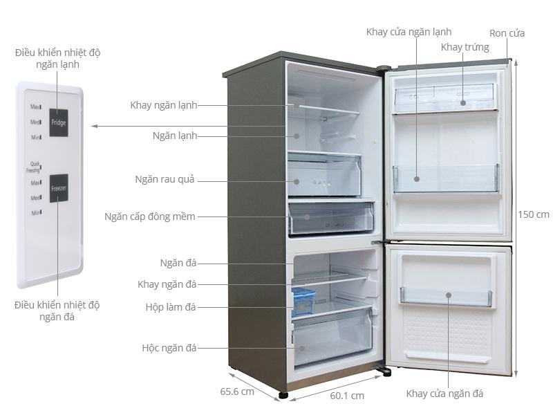 Thông số kỹ thuật Tủ lạnh Panasonic 255 lít NR-BV288QSVN