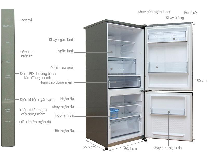 Thông số kỹ thuật Tủ lạnh Panasonic 255 lít NR-BV288XSVN