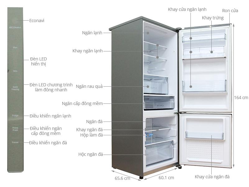 Thông số kỹ thuật Tủ lạnh Panasonic 290 lít NR-BV328XSVN