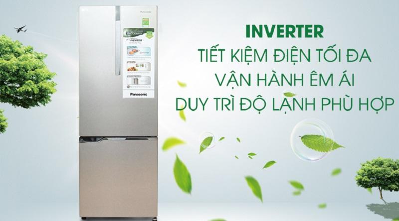 Tủ lạnh Inverter hiện đại, hoạt động cực êm ái - Tủ lạnh Panasonic Inverter 290 lít NR-BV328XSVN