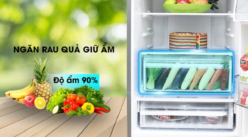 Giữ rau củ tươi lâu hơn với ngăn chứa rau củ quả - Tủ lạnh Panasonic Inverter 290 lít NR-BV328XSVN