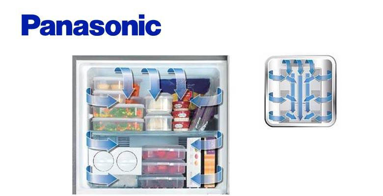 Công nghệ làm lạnh Panorama đảm bảo khí lạnh đầy đủ và đồng đều khắp tủ lạnh