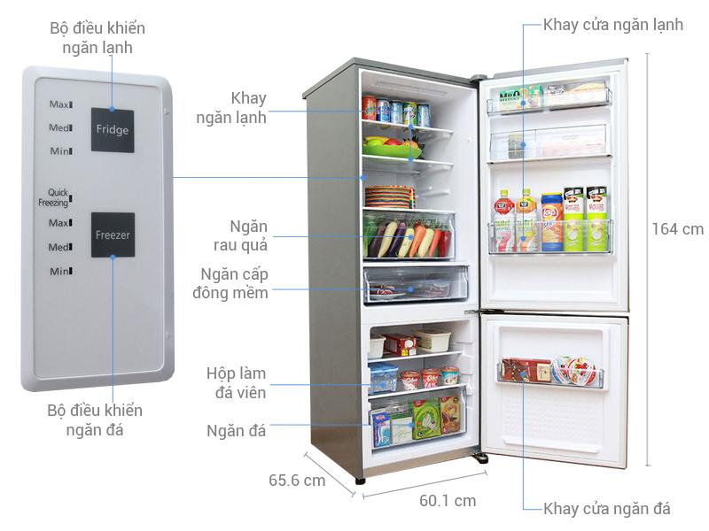 Thông số kỹ thuật Tủ lạnh Panasonic 290 lít NR-BV328QSVN